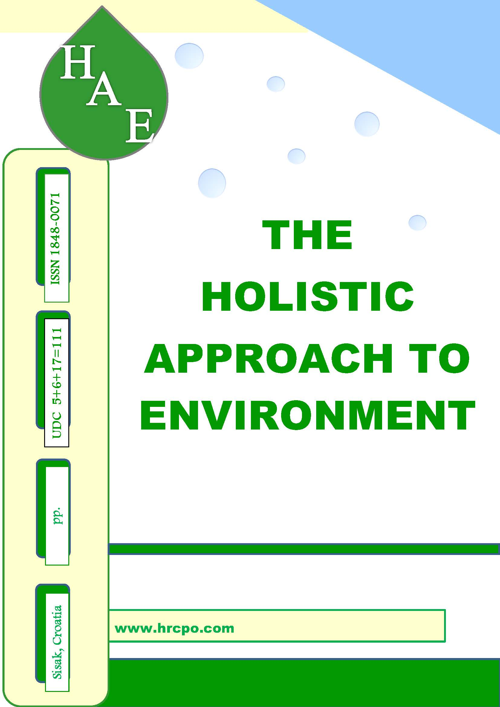 The holistic approach to environment